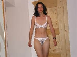 A shy shy wife in see through undies , wait till her ...