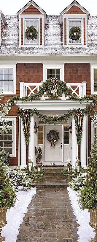 Ashville Estate Greenery | Outdoor Christmas Decor