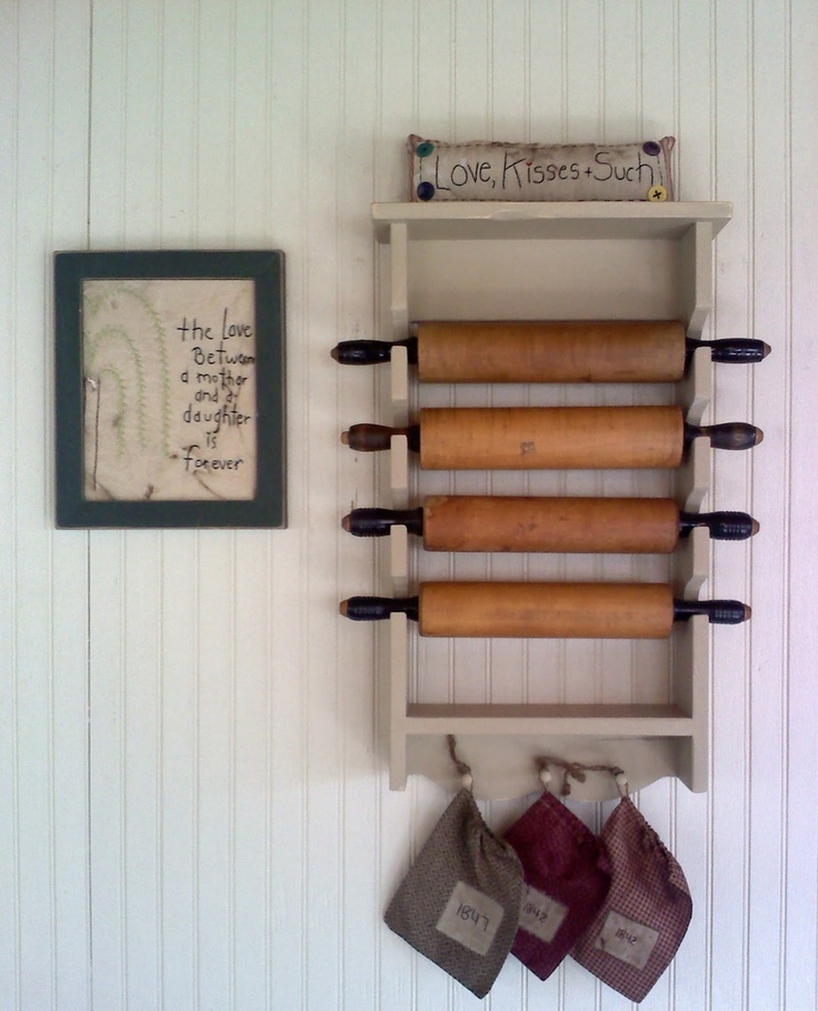 i want a rolling pin holder like this!  Firecracker Kid: May 2012