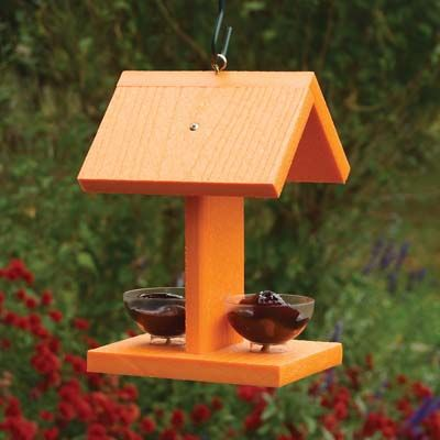 32320  Going Green Recycled Plastic Oriole Jelly  Feeder with 2 jelly jars