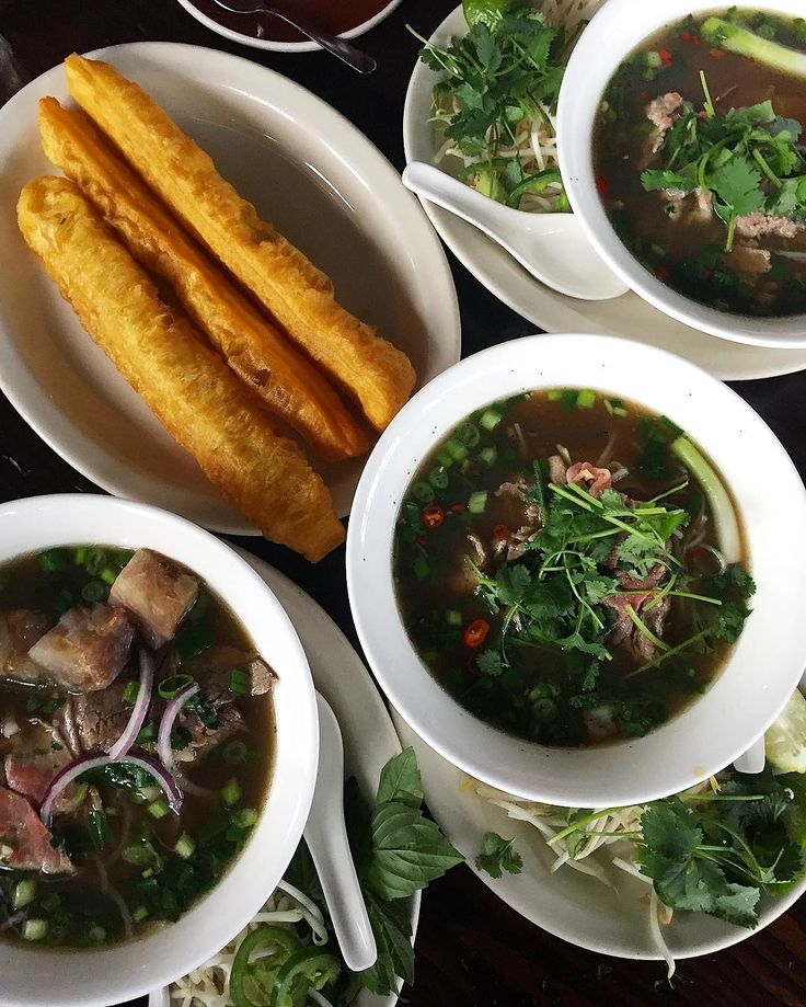 """Pho noodle soup with a doughnut on the side @babarseattle"" . . credit: @mealswithmario . . C'monBoard #Seattle brings together the best events in #Seattle. To discover things to do in Seattle, keep an eye on the C'monBoard website [link in the bio] . . . . Make sure to check out our Seattle-themed products at www.cmonstore.com"