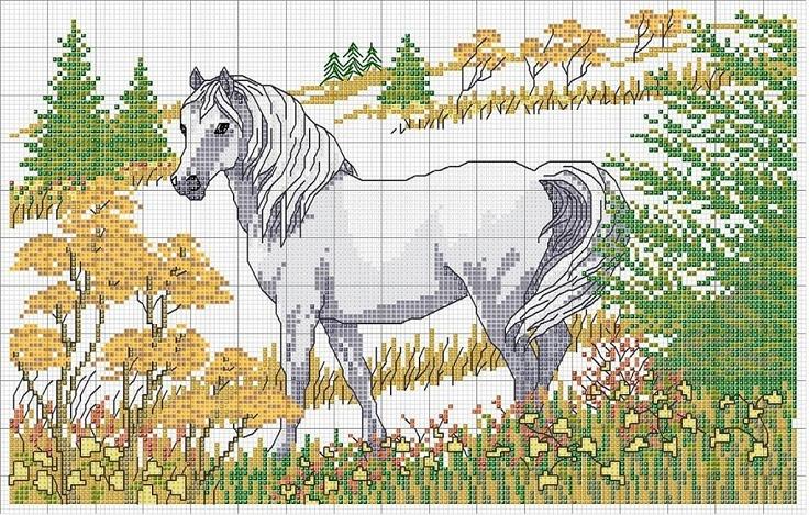 31 best caballos punto de cruz images on Pinterest | Caballo de ...