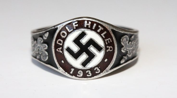 GERMAN WW2 ADOLF HITLER 1933 STERLING SILVER RING NAZI http://antiq24.com/product/german-ww2-adolf-hitler-1933-sterling-silver-ring-nazi/