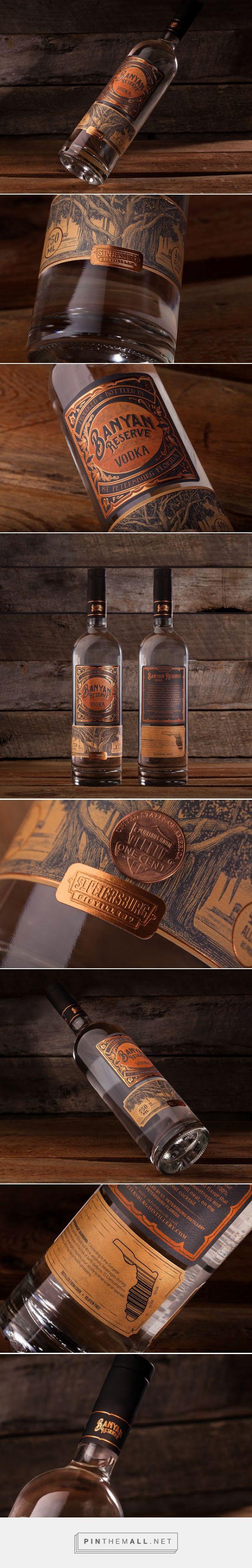Banyan Reserve #Vodka #packaging designed by Dunn&Co. - http://www.packagingoftheworld.com/2015/07/banyan-reserve-vodka.html
