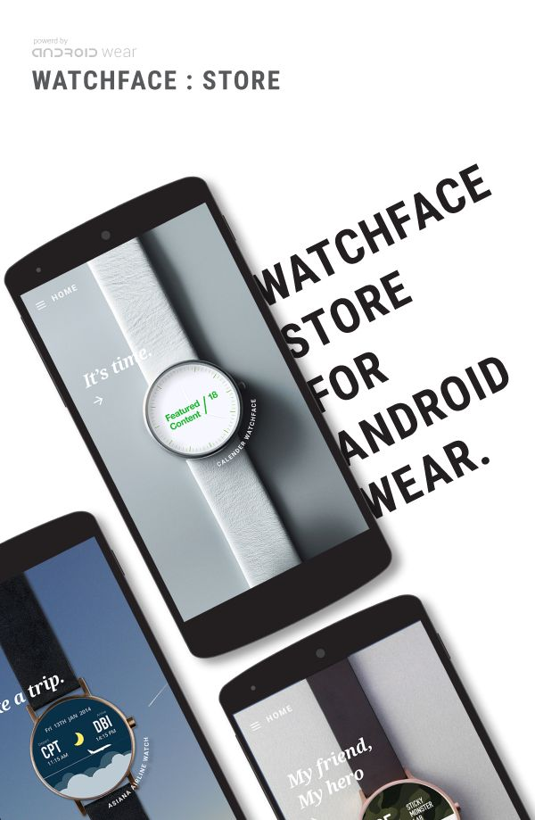 Watchface store for Android wear on Behance