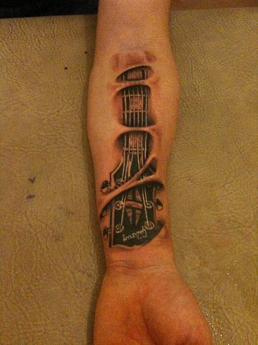 Headstock - ridiculously awesome concept of a tat