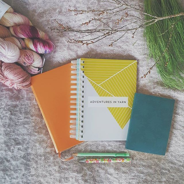 #yarnlovechallenge | Day 8 Prep.  . For me prepping is really about the stationary that I use. I have #bulletjournallove and I use a #leuchtturm with washi tape.  I also have this wonderful Adventures in Yarn Notebook by Emily Owen (@eao19)   Emily gave me one of her wonderful notebooks from Popcorn and Crocodiles and I am absolutely in love with it from the needle gauge colour theory chart plastic pockets removable yarn labels for those leftover skeins it's a perfect addition to my knitting…