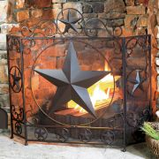 Western Fireplace Screens