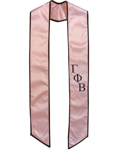 Gamma Phi Beta Graduation Stole by Adam Block Design | Custom Greek Apparel & Sorority Clothes | www.adamblockdesign.com