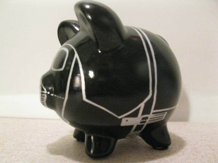 Darth Vador Piggy Bank...how cool is this?!