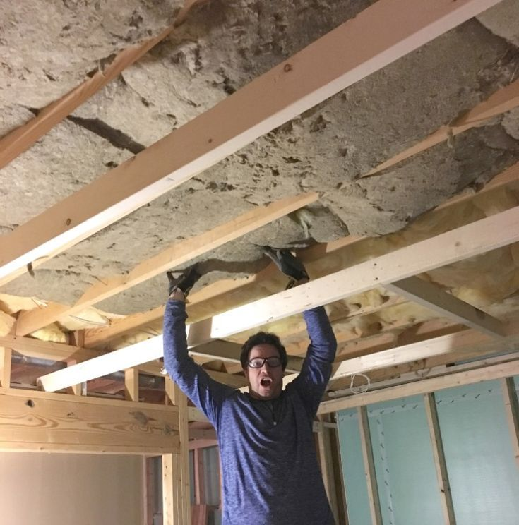 Basement Office Reveal In 2020 Basement Insulation Coffered Ceiling Basement Renovations