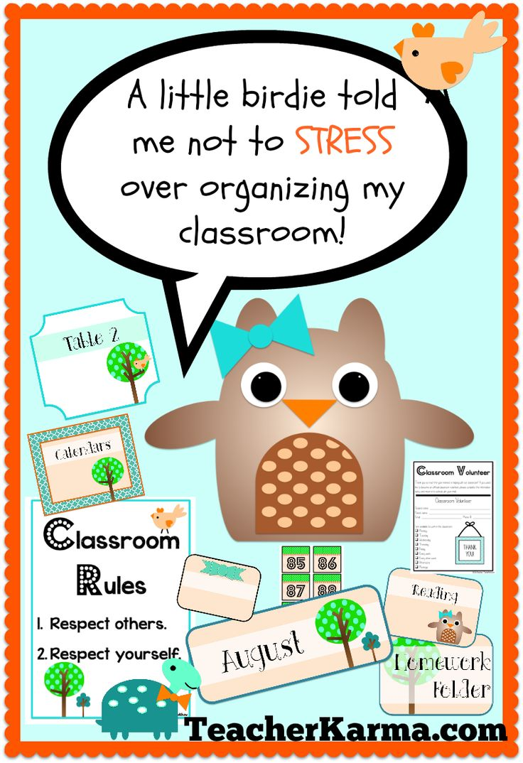 Teachers:  Don't STRESS over organizing for BACK TO SCHOOL!  Labels, printables, parent communication, student info, etc. #back #school