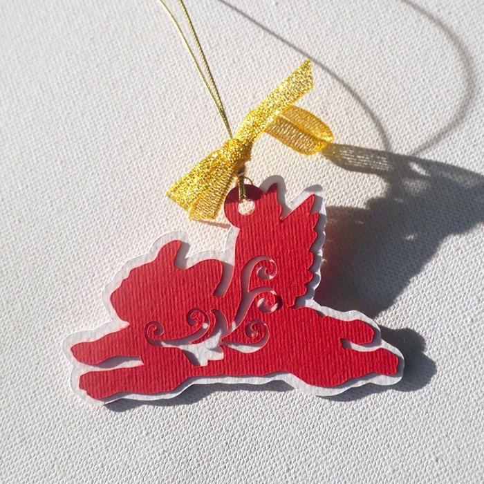 French Bulldog Christmas tree decoration Balthazar by PSIAKREW on Etsy