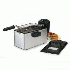 Stainless Steel 3.5qt Deep Fryer by Maxi Matic USA. $42.20. 1500 watts power. Immersible heating element. Splatter-proof lid. Brushed stainless steel body. Enamel coated interior. FeaturesMeasurements Brushed stainless steel body  Enamel coated interior  Immersible heating element  1500 watts power  Splatter-proof lid  Anti-grease removable filter  Viewing window built into the lid  Timer control knob  Heat resistant handle  Adjustable thermostat control  Read...