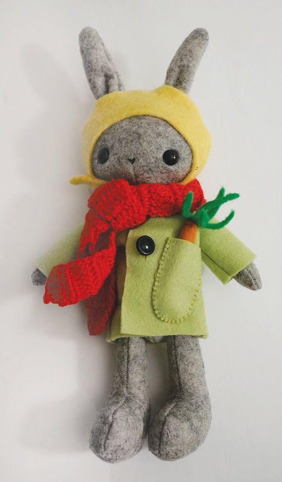 Handmade Toy Thistledown Bunny Rabbit by WhipStitchy on Etsy.
