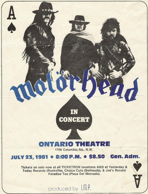 Motörhead in Concert July 23 1981.