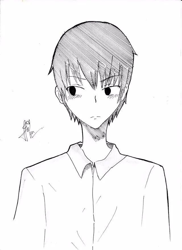 I draw with paper, painting, and scanning.. :'')))))     Kageyama - Haikyuu