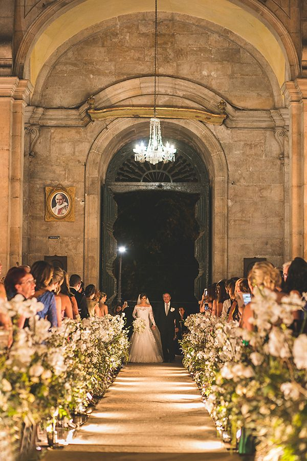 Cerimônia de casamento na Basílica Nossa Senhora da Conceição da Praia, em Salvador ( Foto: Nelson Neto )