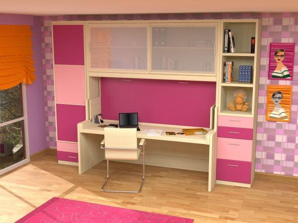 Dormitorio con cama abatible con escritorio 31 cama con - Fabricar cama abatible ...