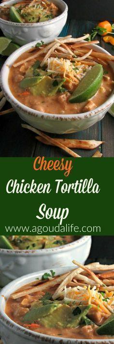 Cheesy Chicken Tortilla Soup