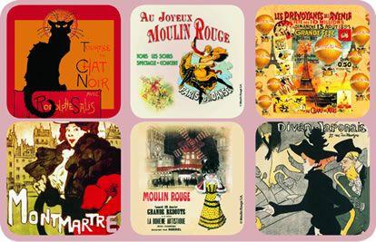 French Art Coasters - Petit Gourmand - Philadelphia Local, Gourmet ...