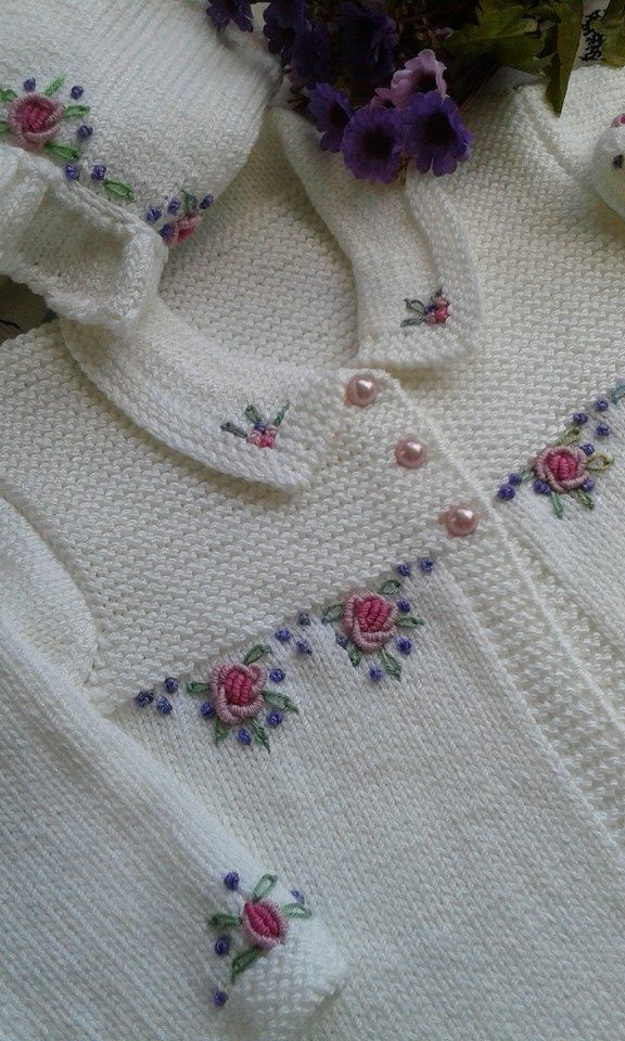 """Mail - mozinha etche - Outlook [   """"Hand embroidery takes this simple knit cardigan from plain vanilla to spectacular. I"""