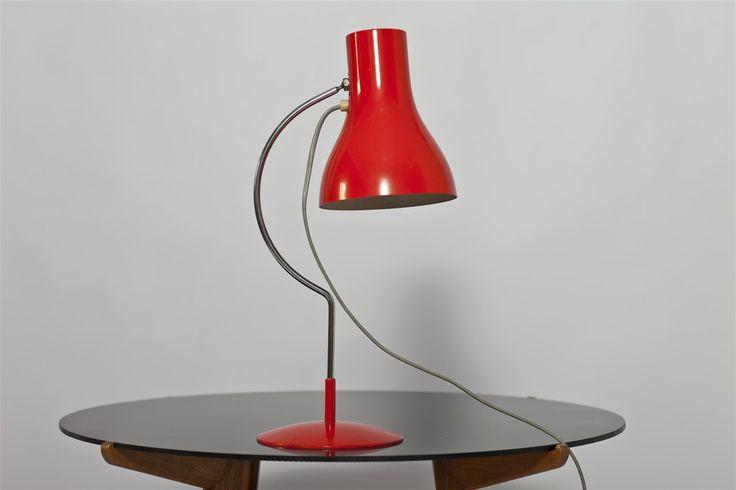 Unikatowa lampka na biurko marki Napako, datowana na połowę lat '60. Proj.: J. Hurka.  #vintage #vintagefinds #vintageshop #forsale #design #midcentury #midcenturymodern #lamp #czechoslovakia