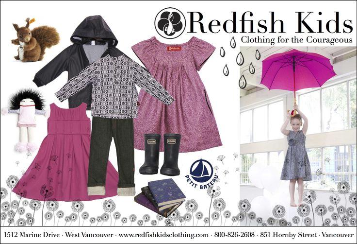April Showers!  www.redfishkids.com