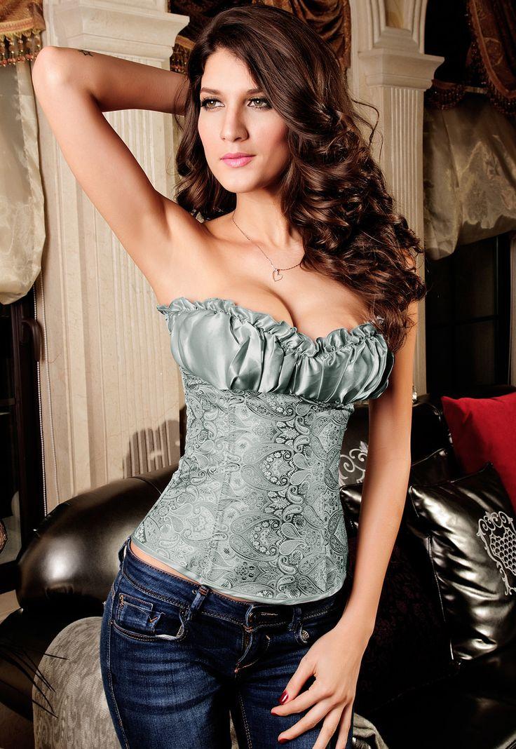 Prix: €14.66 Corsets Renaissance Corset Top Argentous Pas Cher www.modebuy.com @Modebuy #Modebuy #CommeMontre #sexy #me #pleasecomment