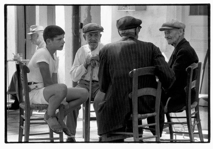 Greece. Crete. 1964. Boy at a cafe.