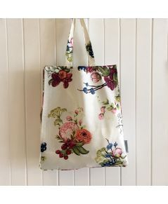 Bouquet Ivory Tote, the essential carryall for shopping. Saving the planet, one plastic bag at a time!
