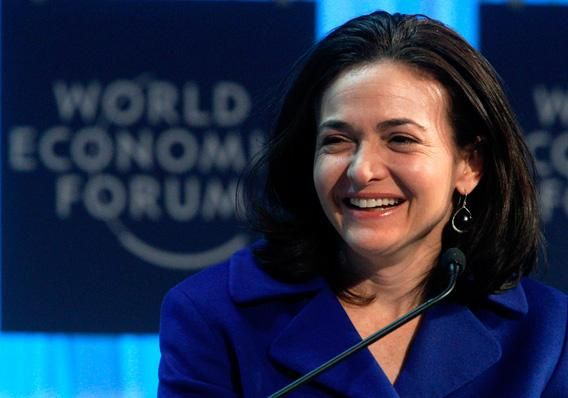 Facebook's Chief Operating Officer (COO) Sheryl Sandberg attends a session at the World Economic Forum (WEF) in Davos, January 27, 2012.