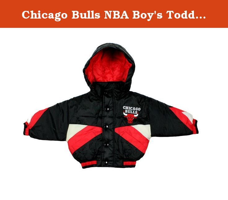 Chicago Bulls NBA Boy's Toddlers Hooded Heavy Bomber Jacket, Black Red & White (18 Months, Black / Red / White). Share your love for the Bulls by getting your young one this Chicago Bulls hooded heavy parka jacket. This jacket features two front pockets and an embroidered Bulls logo on the front and back. With this piece of Bulls team gear your little sports fan will become the ultimate enthusiast.