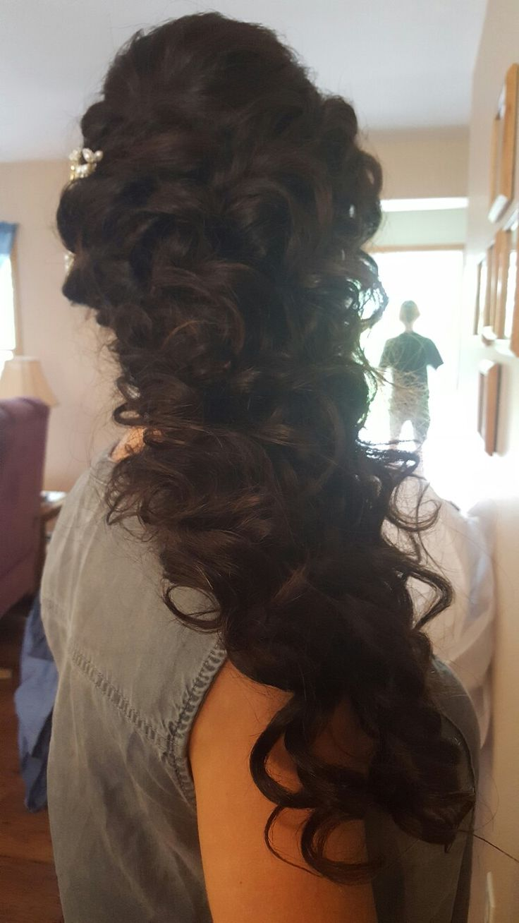 Bridal up & down style with added extensions for the day.