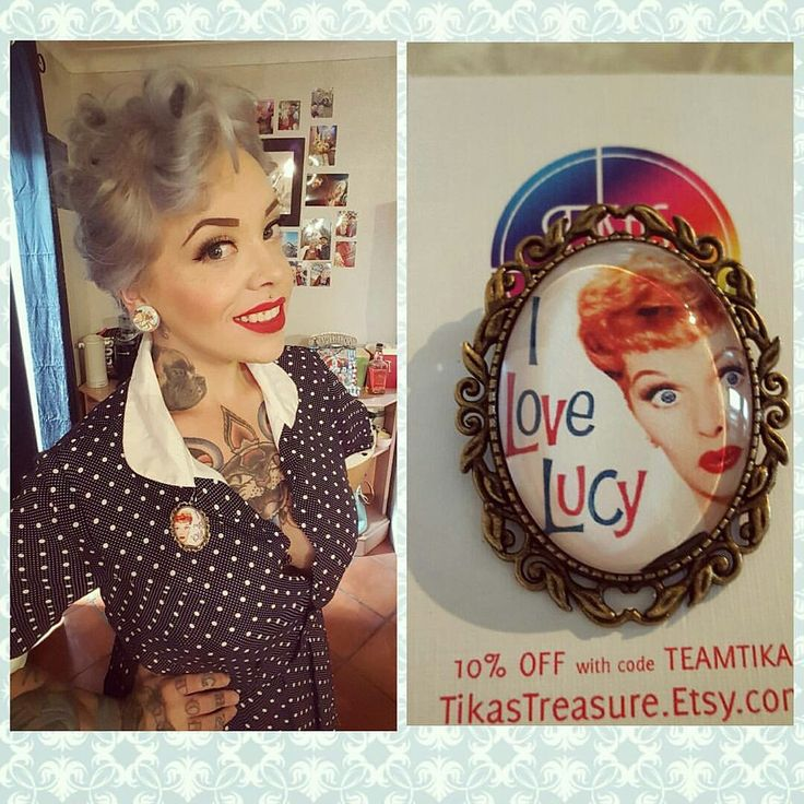 The lovely Lucy requested a custom I Love Lucy brooch with this image and it turned out beautifully!