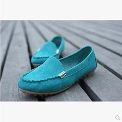 Zapatos Mujer Botas Venta Venta Directa Sapatos Femininos Mujeres zapatos planos 2014 de trabajo informal Guisantes Ronda Tacones Dulce Señora del Estudiante