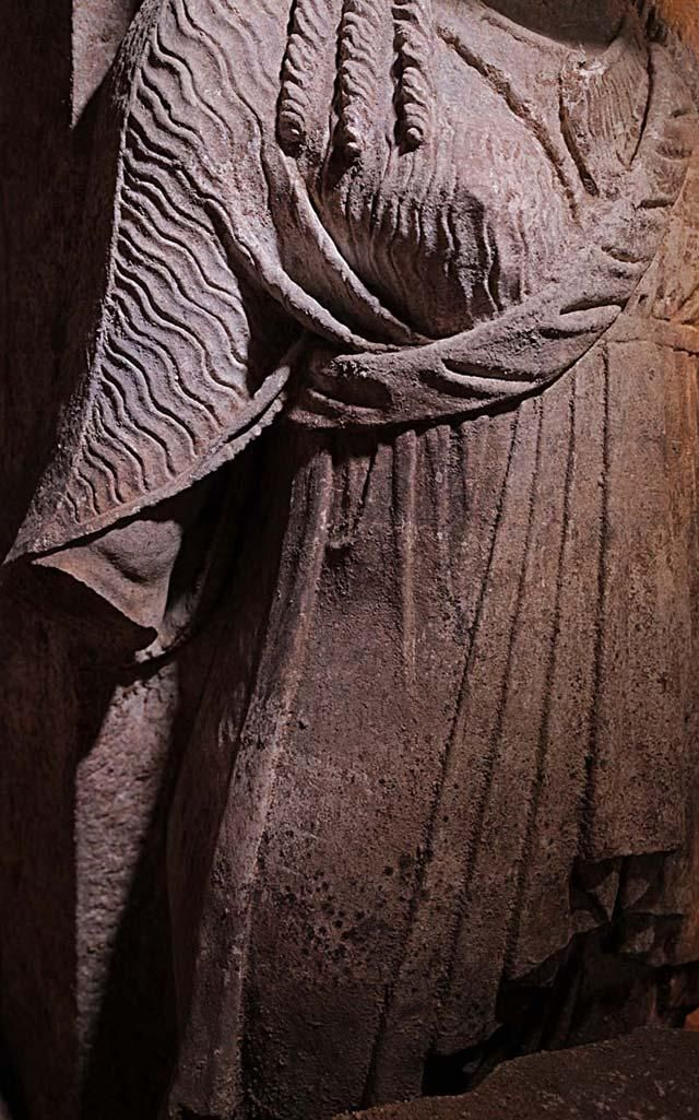 Amphipolis, Macedonia Greece: The Tunic of the West Caryatid