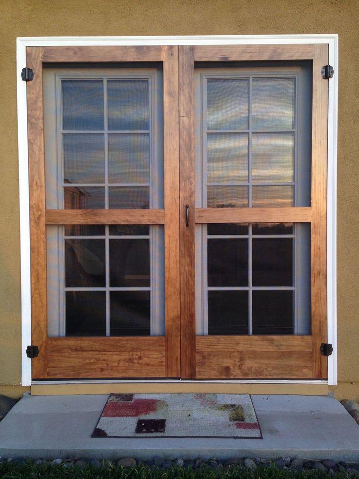 43 best custom barn doors images on pinterest san diego for Barn door screen door