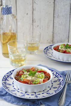 sia´s soulfood foodblog: Gebackener Feta mit Tomaten {Bougourdi}