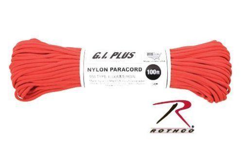 Neon Orange Pepperell 1.9mm Parachute Cord 100-Feet