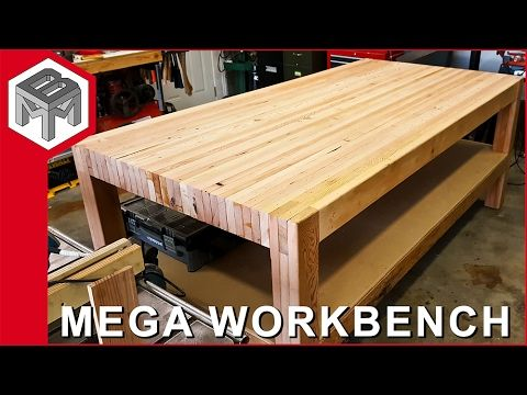 MORE PROJECT AND TIPS: http://makebuildmodify.com/ In this video: How I made a MEGA workbench out of reclaimed wood. I remodeled an old barn last summer. Whi...