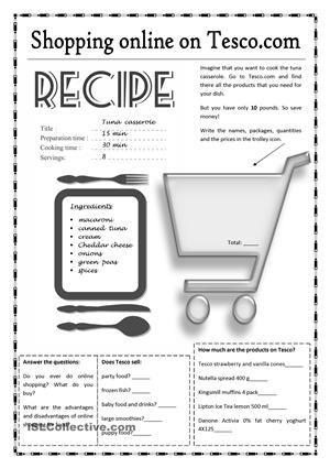 Online shopping for food on Tesco.com