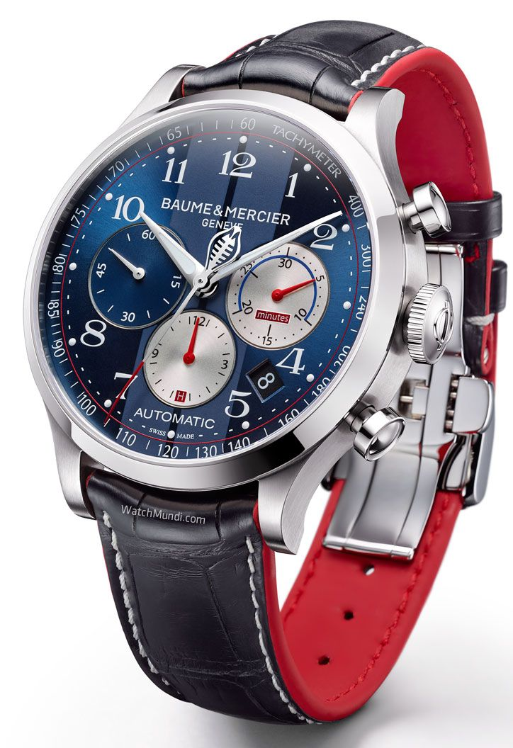 Baume & Mercier - Capeland Cobra 10232. Inspired by the vintage 1948 mono-push-piece chronograph.