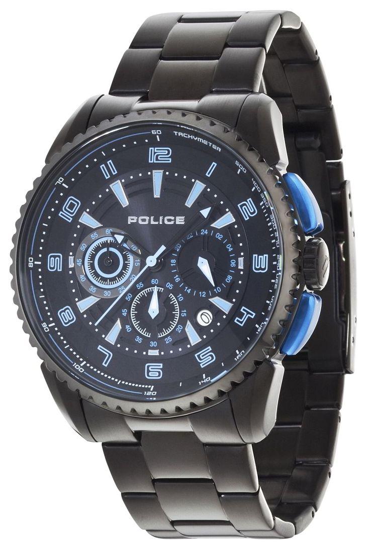 Police Uhr Armbanduhr P13648JSB-02M FLARE schwarz blau Edelstahl  http://www.uhren-versand-herne.de/police-uhr-armbanduhr-p13648jsb-02m-flare-schwarz-blau-edelstahl.html