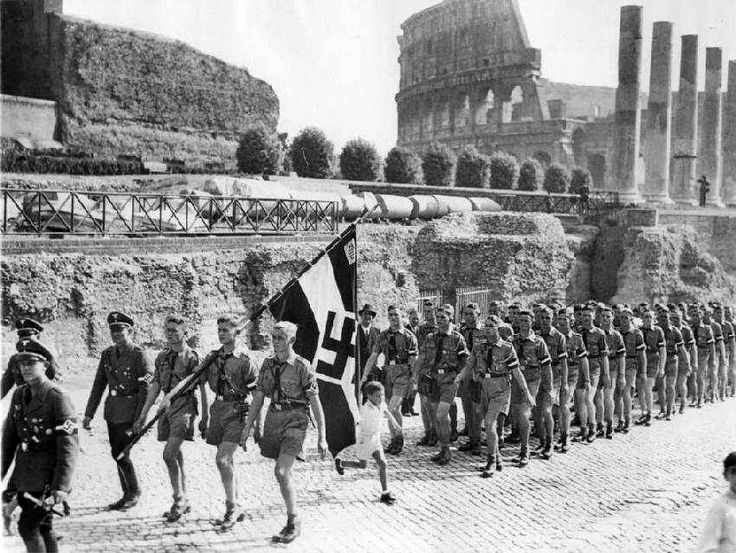 World War II -- Rome...Caesar would have been appalled at such gall. Only he was allowed such disregard and rose above it...