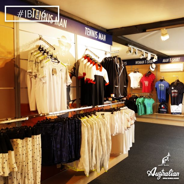 The best way to enjoy ‪#‎tennis‬ is to wear it. Visit #Australian store at #IBI16 , #Rome .