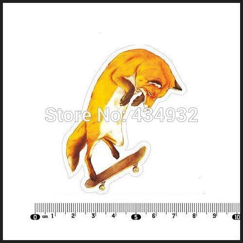 Min. order составляет 10 (заказ смешивания) эксклюзивные продажи Скейтборд Fox водонепроницаемый наклейка Ноутбук Стайлинга Автомобилей наклейки для ноутбуков [один]