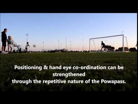 Powapass football training machine!  #soccer #football #sports #players #goals #keepers #drills #training #coaches #ball #fitness #thematildas #socceroos #aleague #adelaideunited #melbournevictory #brisbaneroar