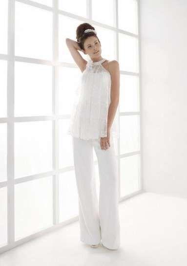 Completi pantalone sposa - Abito da sposa con pantaloni a campana e top senza maniche