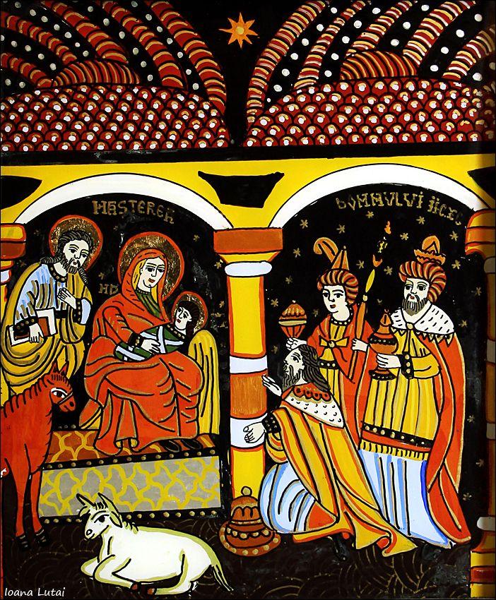 Nasterea Domnului Iisus Hristos - Craciunul - Icoane pe sticla Sapanta - Ioana Lutai - foto Cristina Nichitus Roncea http://www.icoanepesticla-sapanta.ro/